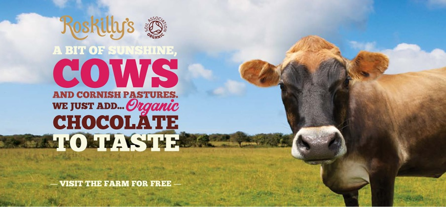 A bit of sunshine, cows and Cornish pastures. We just add organic chocolate to taste