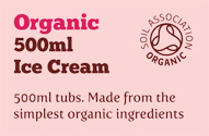 500ml Organic Ice Cream